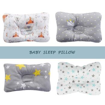 Cotton Baby Pillow Newborn Baby Anti Flat Head Baby Sleep Pillow Baby Bedding Sleep Positioner Support Pillow