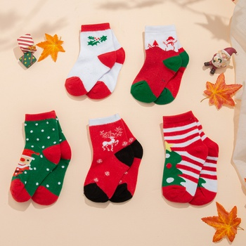 5-pack Toddler / Kid Christmas Trendy Socks