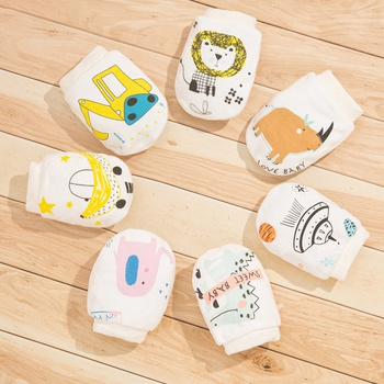 2-pack Baby Cartoon Animal Anti-scratch Gloves