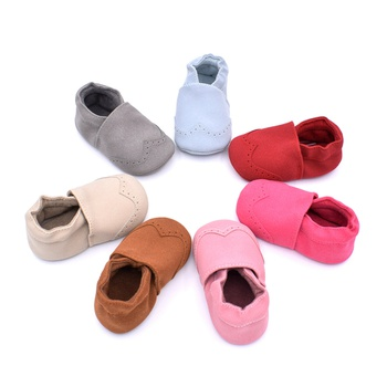 Baby Fashionable Solid Leather Antiskid Prewalker Shoes