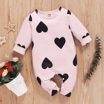 Baby Heart Allover Jumpsuit