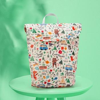 Cartoon Animal Waterproof Baby Diaper Bags Maternity Bag Reusable Diaper Cover Dry Wet Bag