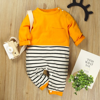 Baby Colorblock Striped Jumpsuits