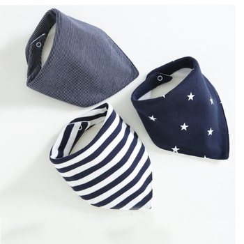 3-pack Striped Cotton Bibs