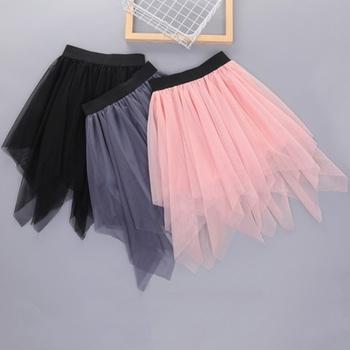 Fashionable Solid Mesh Skirts