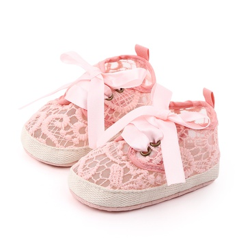 Baby / Toddler Hollow out Lace Lace-up Prewalker Shoes
