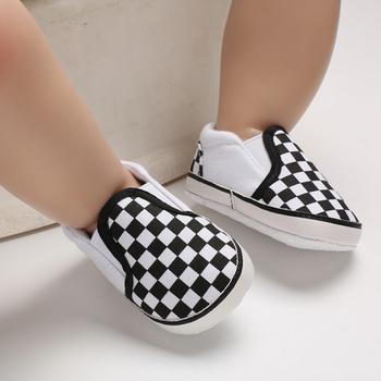 Baby / Toddler Boy Stylish Plaid Design Prewalker Shoes