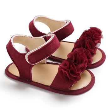 Baby / Toddler Floral Decor Velcro Closure Sandals