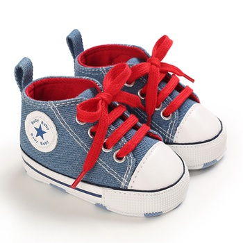 Baby / Toddler Lace-up Letter Print School Casual Canvas Prewalker Shoes
