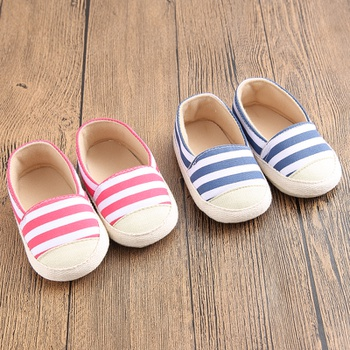 Baby / Toddler Striped Casual Canvas Prewalker Shoes