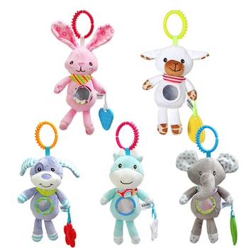 Baby Hanging Rattle Toys Soft Activity Crib Stroller Toys Animal Shape for Toddlers Baby Girls Baby Boys
