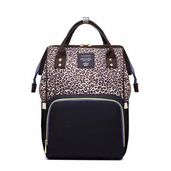 LEQUEEN Leopard Multi-functional Large Capacity Diaper Bag Backpack