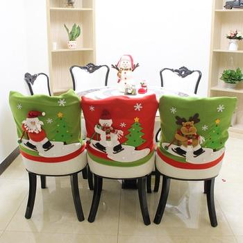Christmas  Ski Santa/Snowman/Deer  Chair  Coverup Decor