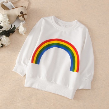 Baby / Toddler Rainbow Pattern Casual Pullover