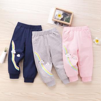 Baby / Toddler Girl Rainbow Cartoon Pattern Casual Harem Pants