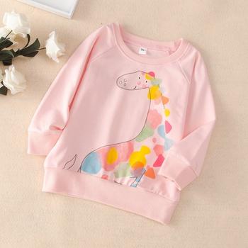 Baby / Toddler Girl Animal Giraffe Colorful Pattern Pullover