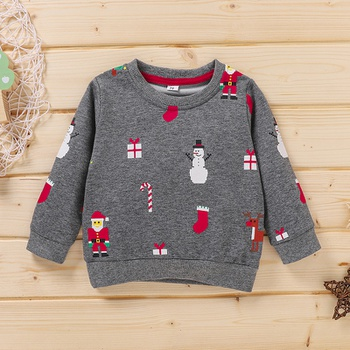 Baby Boy casual Santa Claus Pullovers Christmas pring Autumn Clothes Toddler Sweatshirt Baby Outfit