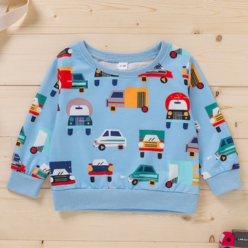 Baby Boy casual Vehicle Pullovers Cotton Fashion Long Sleeve Infant Clothing Outfits