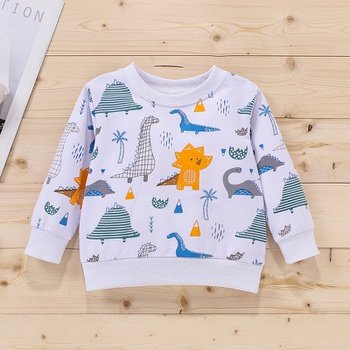 Baby Boy casual Animal & Dinosaur Pullovers Cotton Fashion Long Sleeve Infant Clothing Outfits