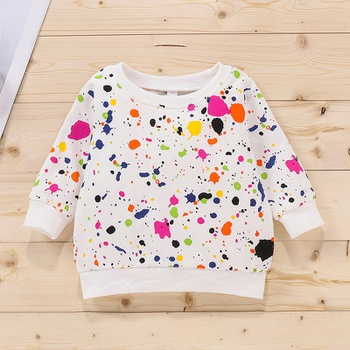 Baby Unisex casual Tie dye Pullovers & Hoodies Cotton Fashion Long Sleeve Infant Clothing Outfits