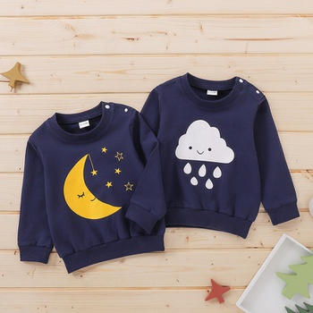 1pc Baby Girl Long-sleeve Cotton casual Pullovers & Hoodies