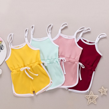 Baby / Toddler Girl Casual Solid Jumpsuits