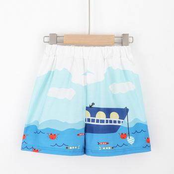 1pc Toddler Boy Street style Sailing ship Shorts