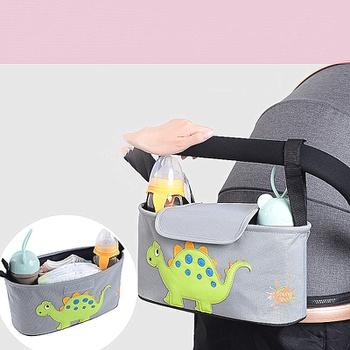 Cartoon Animal Print Baby Universal Stroller Organizer Bag