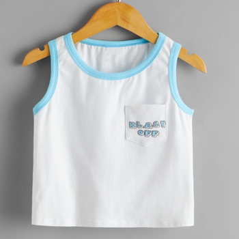 1pc Toddler Boy Cotton Short-sleeve Robot casual Camisole