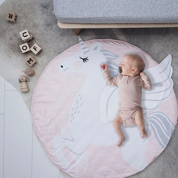 Lovely Unicorn Design Cotton Material Play Mat for Baby