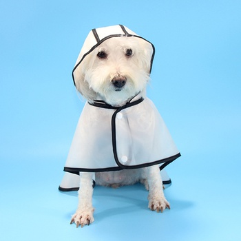 Pet Hooded Waterproof Transparent Hat  Raincoat