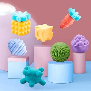8PCS Baby Textured Multi Ball Set Soft Bath Toys