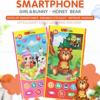 Cartoon Phone Kid Cellphone Telephone Educational Learning Toys Music Baby Infant Phone Baby Gift Teaching Toy