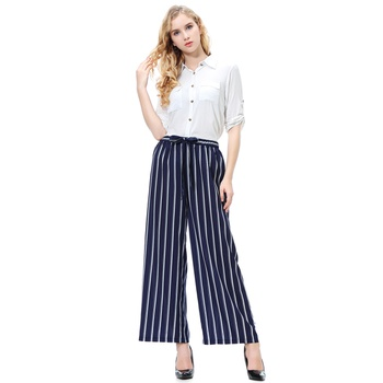 Casual Striped Loose Pants