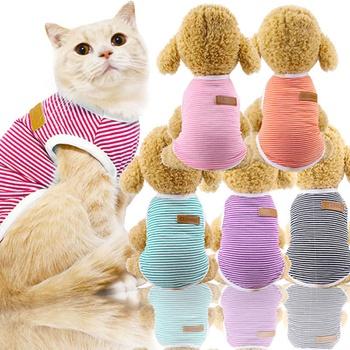 Pet Cotton Striped Vest