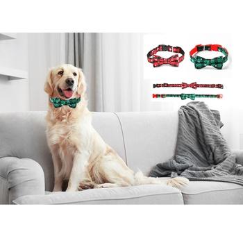 Dog Collar Adjustable Christmas Snowflake Pattern for Pets
