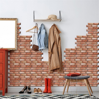 Stone Art 3D Wall Brick Sticker Self-Adhesive Removable Wall Décor for Bathroom Bedroom Living Room