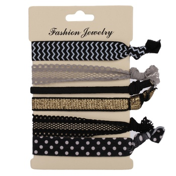6PCS No Crease Elastic Hair Ties