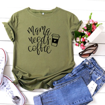 Casual Letter Printed Short-sleeve Tee For women