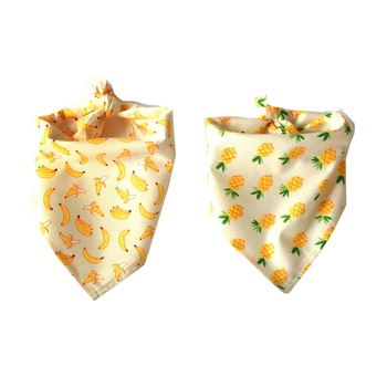 Fruit Pineapple Banana Pattern Pet Triangle Scarf