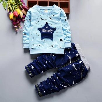 Stars Applique Sweatshirt and Pants Set