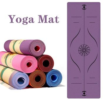 Doble Layer Non Slip Yoga Mat Body Alignment System