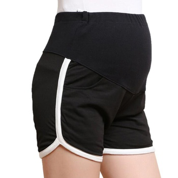 Casual Solid Maternity Shorts