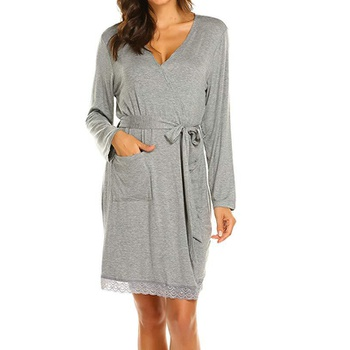 Maternity Floral Plain housecoat