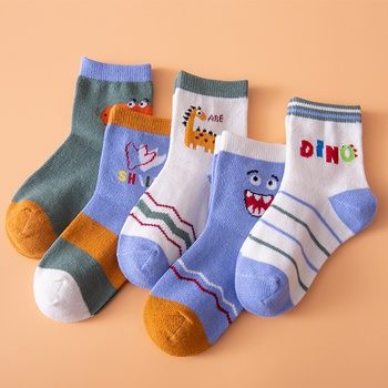5-pack Baby ./ Toddler / Kid Adorable Dinosaur Middle Socks