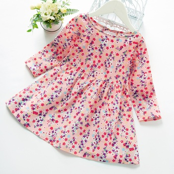 Baby Girl Floral Sweet Dress long sleeve Countryside Floral Skirt Clothing