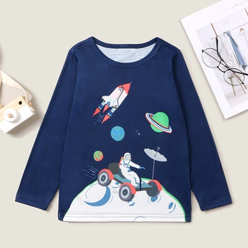 Stylish Universe Planet Longsleeves Tee
