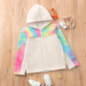 Kid Unisex Tie Dye Fluff Coat & Jacket