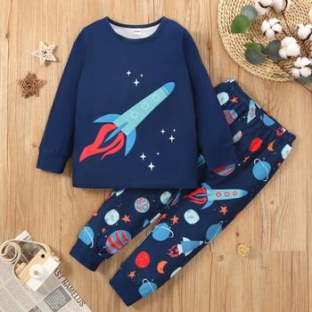 Toddler Boy Rocket Print Set