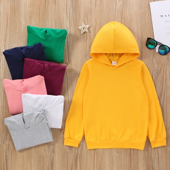 Fashionable Kid Unisex Basic Hooded Sweatshirt